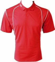 KWD Poloshirt Victoria korte mouw - Rood/wit - Maat XXL