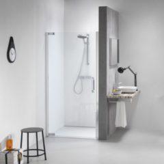 Get Wet by Sealskin IMPACT Swingdeur, 900mm voor plaatsing tussen 2 muren. Chroom/zilver hoogglans, 8mm helder veiligheidsglas.