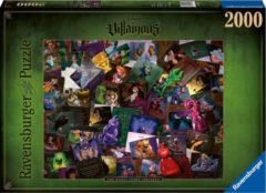 Zwarte Ravensburger puzzel Villainous: All Villains The Worst Comes Prepared - Legpuzzel - 2000 stukjes