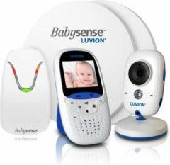 Witte Luvion Easy Babyfoon met Camera + Babysense 7 Sensormatje - 5 Sterren Veiligheidsvoordeelbundel
