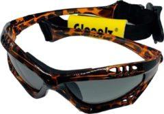 Glogglz Zwembril Finz Polycarbonaat Bruin/grijs One-size