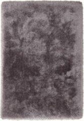Zilveren Cosy Shaggy Superzacht Vloerkleed Antraciet Hoogpolig - 80x150 CM