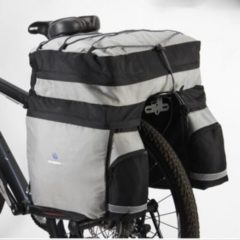 Filmer Fahrrad Tasche Gepäckträgertasche Trekking 60 L... silber-schwarz