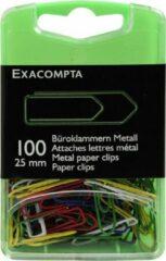 Exacompta 10x Doos met 100 paperclips kleurassortiment 25mm, Geassorteerd