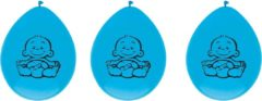 Blauwe Ballonnen Geboorte Jongen Zak A 6 Stuks