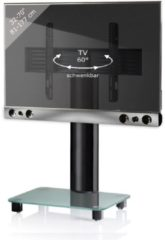 TV-Standfuß + Soundbar 'SBM500' | TV-Wandhalterung incl. Soundbarhalterung VCM silber/aluminium
