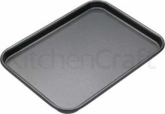 Zwarte Platte bakvorm / bakplaat rechthoekig, 24 cm x 18 cm - Masterclass