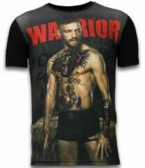Zwarte T-shirt Korte Mouw Local Fanatic McGregor Warrior - Digital Rhinestone T-shirt