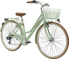 28 Zoll Damen City Fahrrad 6 Gang Adriatica... grün
