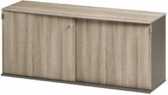 Gamillo Furniture Opbergkast Jazz 160 cm breed in grijs eiken met grijs