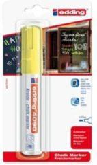 Edding krijtmarker e-4090 - Geel - 1 stuk - krijtmarkers - raamstift - raamstiften - chalkmarker - krijtstift – glasstift – schoolbordstift – krijtbordstift – stoepbordstift