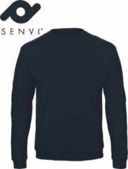 Marineblauwe Merkloos / Sans marque Senvi Basic Sweater (Kleur: Blauw) - (Maat XXXL - 3XL)