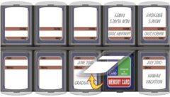 Aufbewahrung SD Card Organizer Bilora bunt/multi
