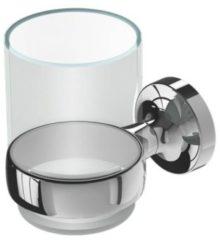 Geesa Tone glashouder met glas chroom 91730202