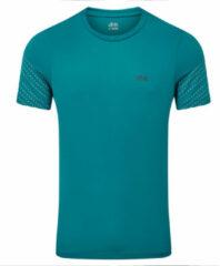 Blauwgroene Dhb Aeron FLT Short Sleeve Run Top - Hardloopshirts (korte mouwen)
