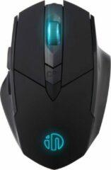 INPHIC oplaadbare draadloze muis, grote ergonomische 2.4G muizen voor Laptop PC Windows Computer - zwart