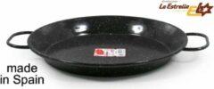 Zwarte La Estrella Paella pan 30 cm