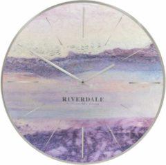 Paarse Riverdale Wandklok Brixton metallic 50 cm