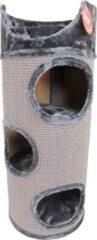 Licht-grijze De Boon - Katten Klimton Sisal 3-Gaats met Zitplaats - 100cm - Grijs/Lichtgrijs