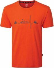 Dare 2B Differentiate Grafisch T-Shirt Met Korte Mouwen Voor Heren Helder Oranje Grijs