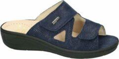 Donkerblauwe Fidelio Hallux -Dames - blauw donker - slipper - muiltje - maat 41