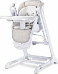 Licht-grijze Caretero Indigo light grey Kinderstoeltje - eetstoel - voedingstoel + met schommel functie