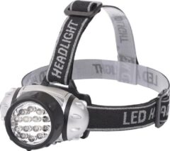 Quani LED Hoofdlamp - Igna Heady - Waterdicht - 35 Meter - Kantelbaar - 14 LED's - 1W - Zilver | Vervangt 8W