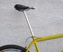 Dynamic24 XXL Alu Fahrrad Sattelstütze Überlänge 50 CM! Aluminium Ø 27,2 auf 28,6mm verstärkte Version