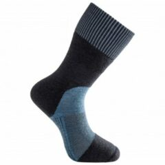 Woolpower - Socks Skilled Classic 400 - Wandelsokken maat 40-44, zwart/blauw