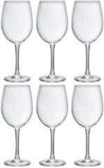 Transparante Merkloos / Sans marque 6x Luxe wijnglazen voor rode wijn 480 ml - 48 cl - Rode wijn glazen - Wijn drinken - Wijnglazen van glas