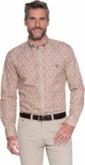 Oranje Campbell Classic Casual overhemd lange mouw