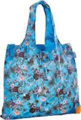 Cedon Boodschappentas Bloemen 50 X 42 Cm Polyester Blauw