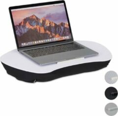 Relaxdays Laptop kussen met handvat - Wit - Laptopstandaard - Schoot kussen