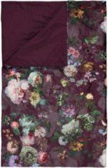 Bordeauxrode ESSENZA Fleur - Sprei - Rood - 240x100 cm