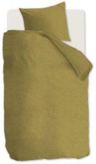 VTWonen Flanel dekbedovertrek - 1-persoons (140x200/220 cm + 1 sloop) - Flanel - Ochre