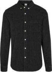Urban Classics Overhemd -5XL- Corduroy Zwart