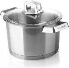 Roestvrijstalen Mehrzer Premium - Hoge braadpan met deksel - 24 cm - RVS