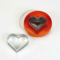 Roestvrijstalen Schneider GmbH Stekerset hartvorm glad, 9-delig