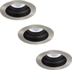 INTOLED Philips Mesa - Inbouwspots - LED - Ø100mm - Wit - Aluminium - Set 3 spots