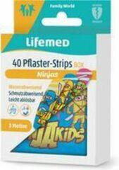 Witte Lifemed kindergipsstrips 'Ninja's', 40-delig metalen doosje