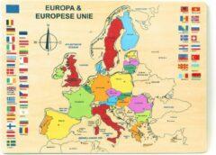 Charl's Toys Houten Puzzel van Europa
