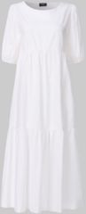 Paarse VONDA Solid Color Puff Sleeve Dress