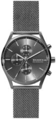 Skagen SKW6608 Horloge Holst Chronograaf staal gunmetal grey 42 mm