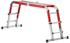 Grijze Altrex Varitrex-Do-it-All - Vouwladder - 4 x 3 sporten - Werkhoogte 4.30m