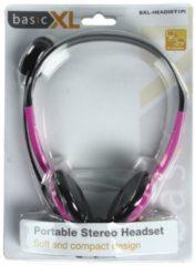 BasicXL Headset On-Ear 2x 3.5 mm Ingebouwde Microfoon 2.0 m Roze Headset On-Ear 2x 3.5 mm Ingebouwde Microfoon 2.0 m Roze