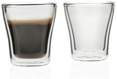 Becher doppelwandig 2er-Set DUO Leonardo Transparent