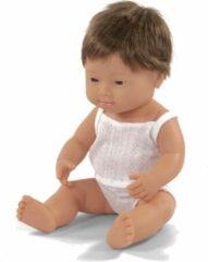 Miniland Babypop syndroom van Down Jongen Met Vanillegeur 38 Cm