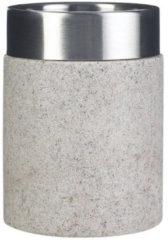Tandenborstelhouder Sapho Stone Vrijstaand 10.5x7.5 cm Polyresin Beige