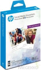 HP Social Media Snapshots Removable Sticky Photo Paper-25 sht/10 x 13 cm pak fotopapier Wit Semi-gloss