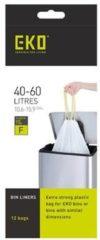 Witte EKO afvalzakken type F 40-60 liter - 6 rollen van 12 zakken